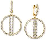 Effy D'Oro by Diamond Open Circle Drop Earrings (3/4 ct. t.w.) in 14k Gold