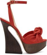 Charlotte Olympia Red Platform Vreeland Sandals