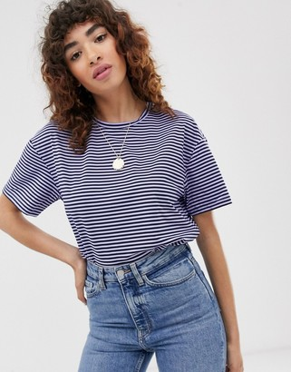 Only stripe t-shirt-Blue