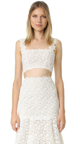 Monique Lhuillier Delia Corset Lace Top