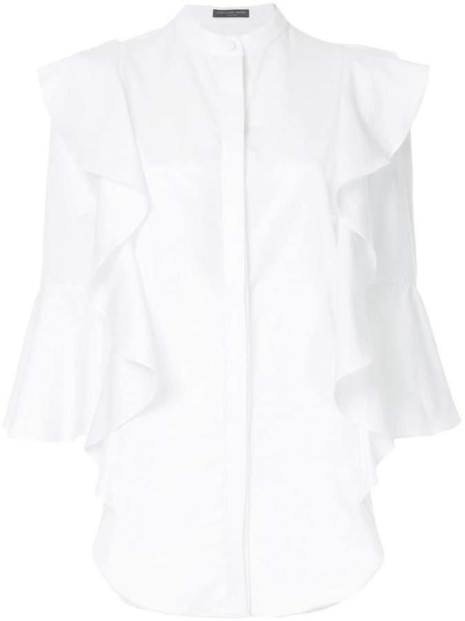 Alexander McQueen ruffle trim shirt