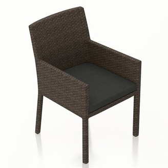 Rosecliff Heights Hodge Patio Dining Chair with Cushion Color: Spectrum Indigo