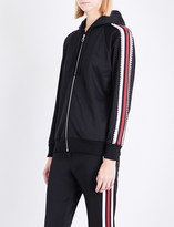 Gucci Diamante-embellished piped jersey hoody