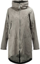 Isaac Sellam Experience - crease-effect hooded coat - women - Calf Leather - 36