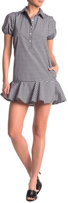 Love...Ady Gingham Flounce Hem Mini Dress