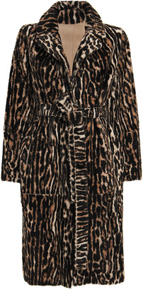 Yves Salomon Ocelot-Printed Reversible Shearling Coat