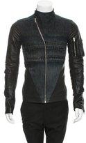 Rick Owens Denim Leather-Trimmed Jacket