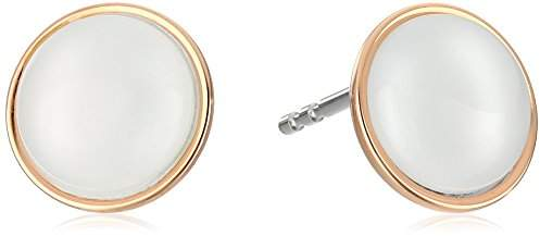 Skagen Sea Glass Rose-Gold-Tone Stud Earrings