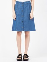 A.P.C. Stonewashed Indigo School Skirt