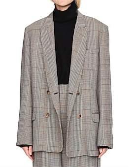 Bassike Viscose Check Tailored Jacket