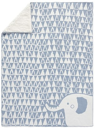 Pottery Barn Kids Elephant Knit Sherpa Baby Blanket