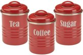 Rayware Tea, Coffee & Sugar Canisters - Typhoon Cream