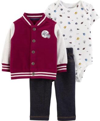 Carter's Baby Boy 3-Piece Varsity Little Jacket Set