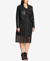 City Chic Trendy Plus Size Faux-Leather Bolero Jacket