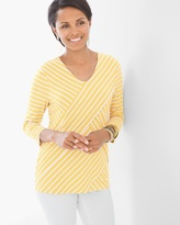 Chico's Miraculous Stripe Tiered Top