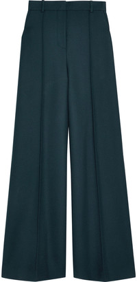 The Row Isla Wool And Silk-blend Twill Straight-leg Pants