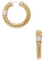 Roberto Coin Primavera 18K Yellow & White Gold Flexible Hoop Earrings