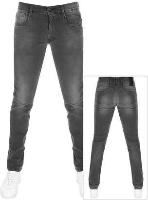 Replay Anbass Slim Fit Hyperflex Jeans Grey
