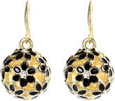 Amrita Singh Women's Earrings Black - Austrian Crystal & Black Floral Drop Earrings
