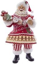 Kurt Adler 11-Inch Fabriche Gingerbread Santa