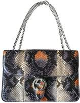 Gucci Interlocking Python Handbag