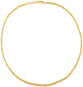 Otiumberg Eternal Twist Rope-chain 14kt Gold-vermeil Choker - Yellow Gold