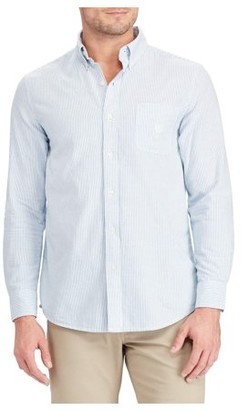 Chaps Men's Long Sleeve Tape Stripe Oxford