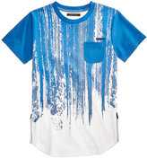 Sean John Vertical Brushed Stripe T-Shirt, Big Boys (8-20)