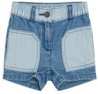 Stella Mccartney Kids Two-Tone Denim Shorts