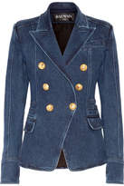 Balmain Double-breasted Denim Blazer - Mid denim