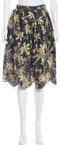 Suno Silk Embroidered Skirt