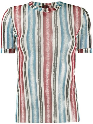 Jean Paul Gaultier Pre Owned 1990s sheer striped T-shirt