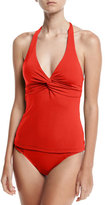 Jets Jetset Twist-Front Tankini Swim Top, Red, D-DD Cup