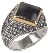 Konstantino Men's Sterling Silver & 18K Gold Ring with Hawk's Eye