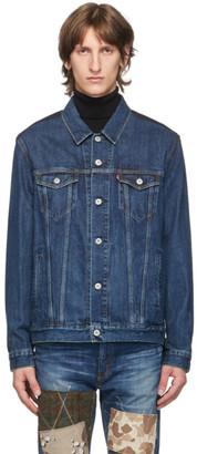 Junya Watanabe Indigo Levis Edition Denim and Wool Jacket
