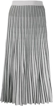 Proenza Schouler metallic striped pleated skirt
