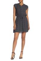 Daniel Rainn Dr2 By Printed Cap Sleeve Button Front Dress