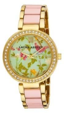 Laura Ashley Ladies' Pink Summer Duck Egg Dial Watch
