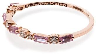 Suzanne Kalan 18kt rose gold Firework sapphire diamond ring
