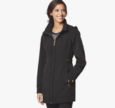 Johnston & Murphy Ruched-Detail Hooded Jacket