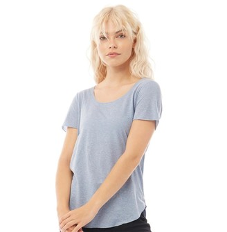 Jacqueline De Yong Womens Linette Short Sleeve T-Shirt Faded Denim