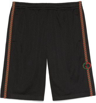 Gucci Mesh shorts with patch