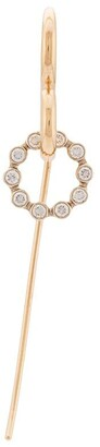 Charlotte Chesnais 18kt yellow gold Swing Unit diamond single earring