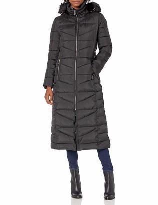 Calvin Klein Womens Maxi Length Coat with Hood