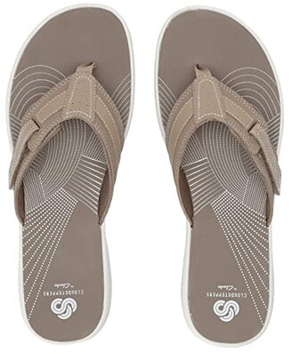 Clarks Brinkley Reef Boxed (Taupe Synthetic) Women's Sandals