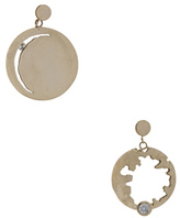 Wassonfine Mismatched Statement Earrings in Metallics.