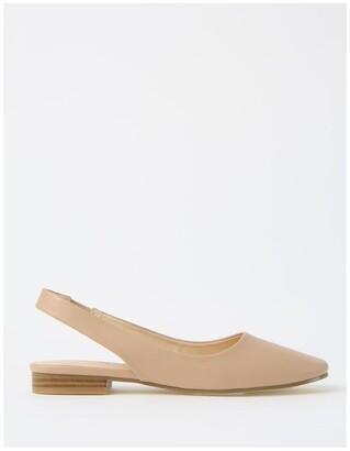 Miss Shop Autumn Beige Flat Shoes
