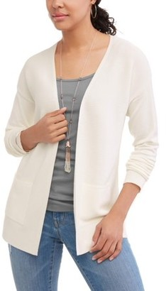 Time and Tru Women's Ribbed Open Front Cardigan
