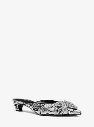 Michael Kors Calista Embellished Floral Brocade Mule