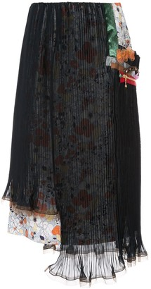 Kolor Double Layer Pleated Skirt